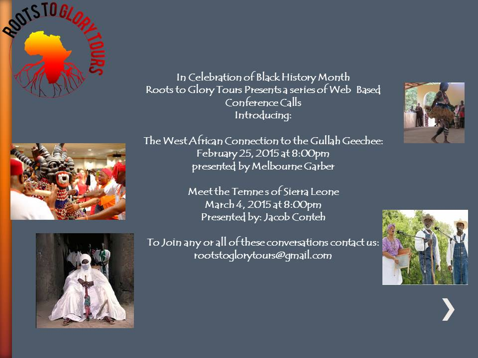 Web Based Conference Calls for Black History Month 2015