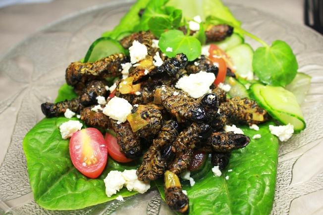 Mopane Worm Salad Recipe