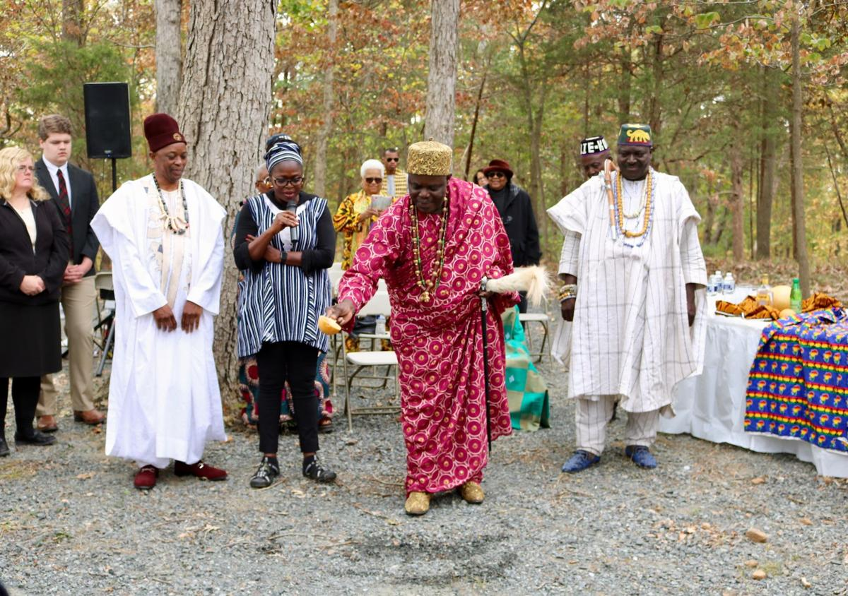 A king comes to Loudoun: Porto-Novo royalty performs traditional African blessing at cemetery for the enslaved
